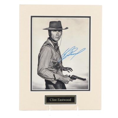 """Clint Eastwood Signed """"Rawhide"""" Television Western Photo Print, COA"""