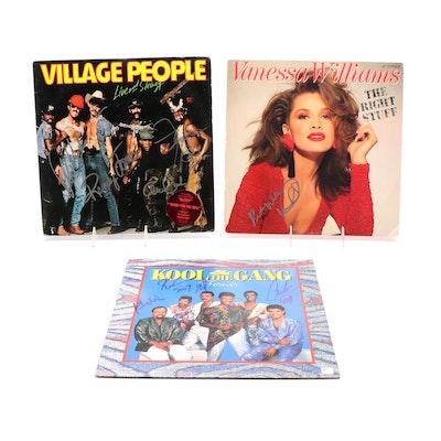 Village People, Kool & The Gang, Vanessa Williams Signed LP Records, COAs