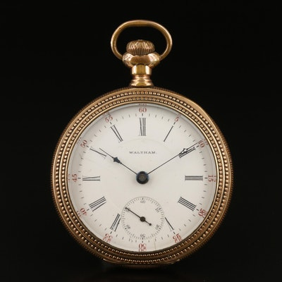 1898 Waltham Gold Filled Pocket Watch