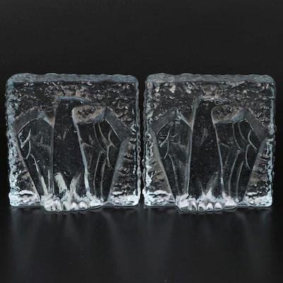 Don Shepherd Das Designs Glass Eagle Bookends