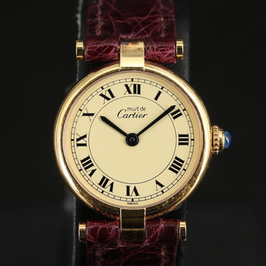 Cartier Vermeil Quartz Wristwatch