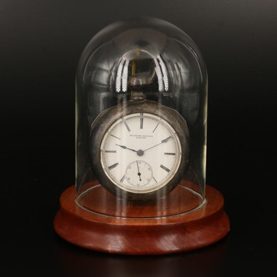 1880 Rockford Watch Co. Coin Silver Pocket Watch and Display Stand