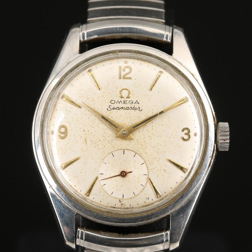 1958 Omega Seamaster Stem Wind Wristwatch