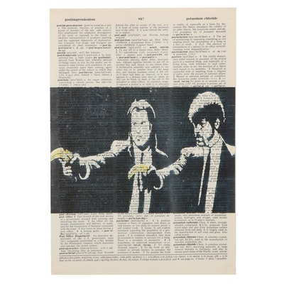 Offset Lithograph of Pulp Fiction Scene, 21st Century