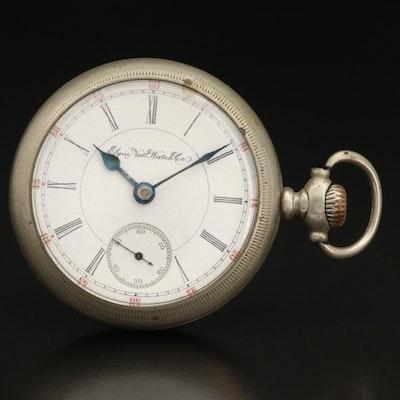 1895 Elgin Sidewinder Pocket Watch with Display Stand