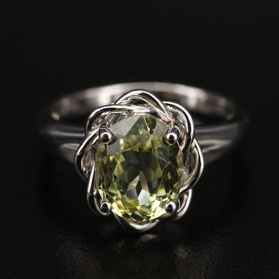 Sterling Sillimanite Ring