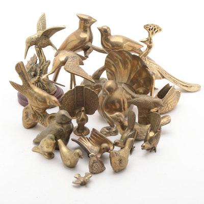 Brass Ducks, Peacocks and Other Bird Figurines