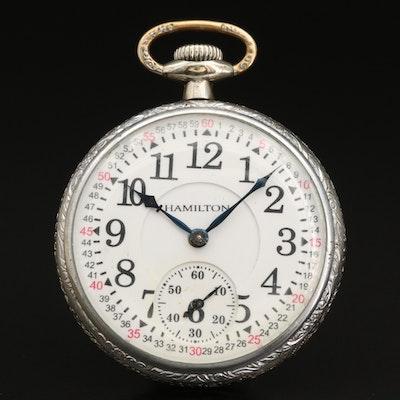 1923 Hamilton Railroad Grade  Gold Filled Pocket Watch