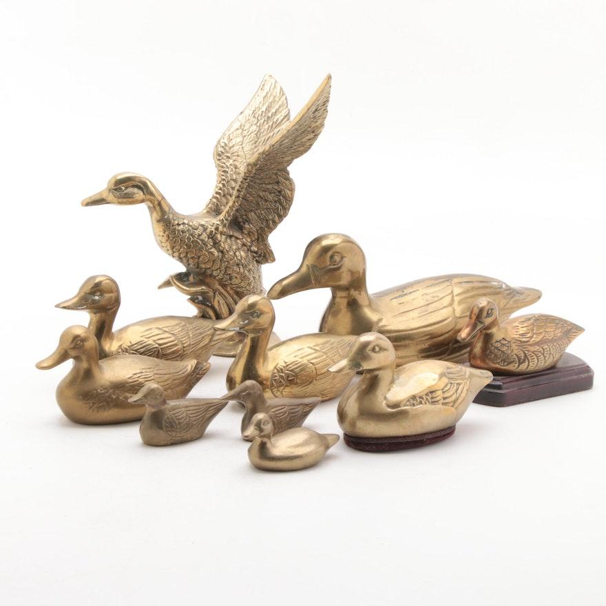 Brass Duck Figurines
