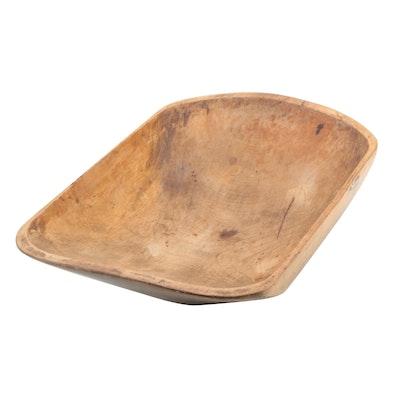 Primitive Wood Dough Bowl, Antique