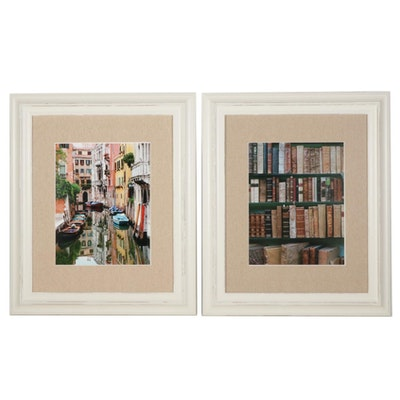 """Lucien Duse Digital Photographs """"The Books"""" and """"Canal Reflection"""""""