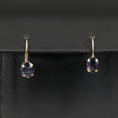 14K Iolite Earrings