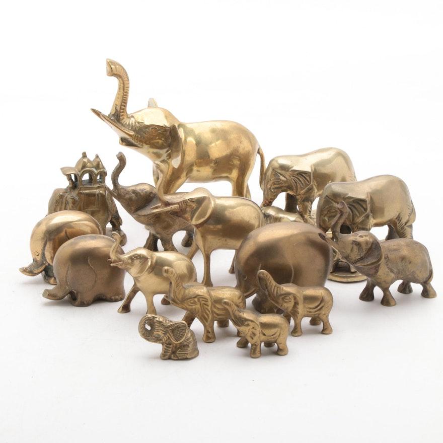 Brass Elephant Figurines
