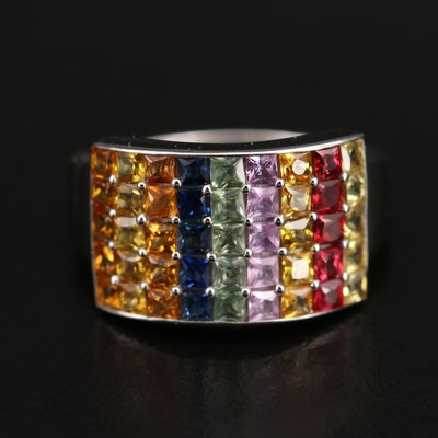 14K Sapphire and Ruby Ring