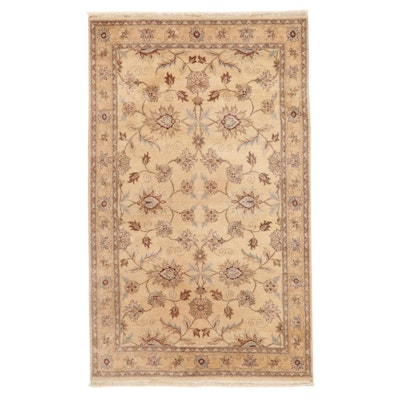 4'10 x 8' Hand-Knotted Indo-Persian Tabriz Area Rug