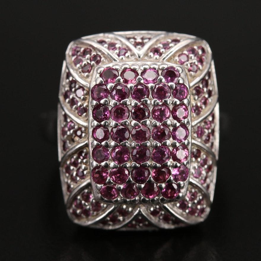 Sterling Garnet Ring