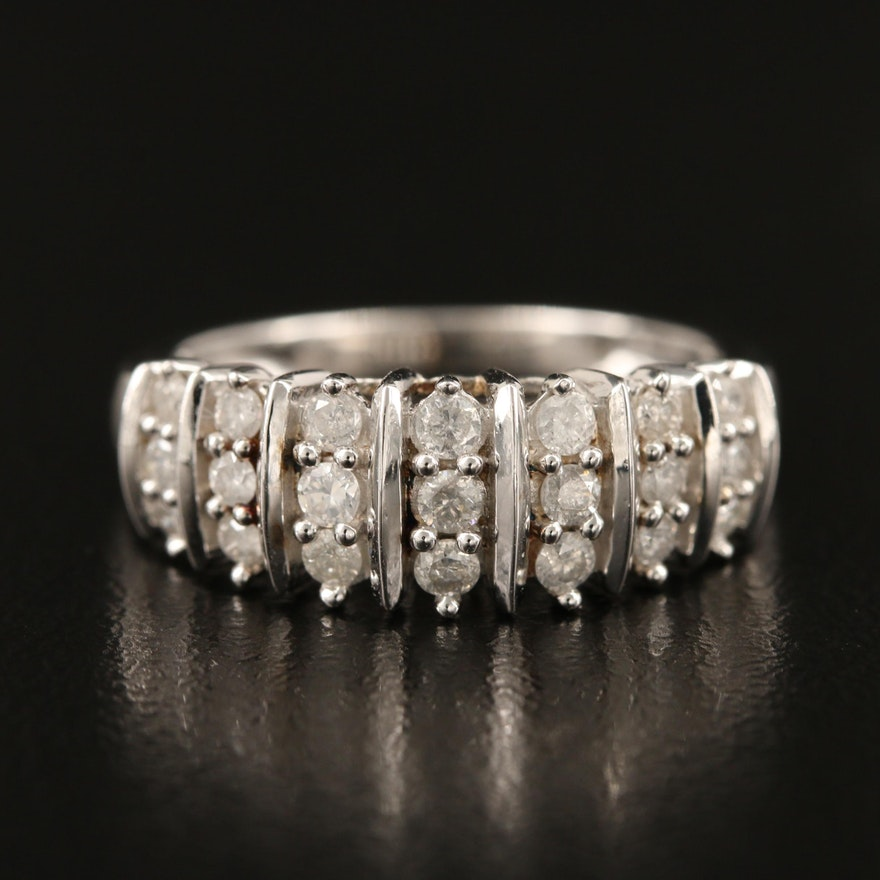 Sterling Diamond Band