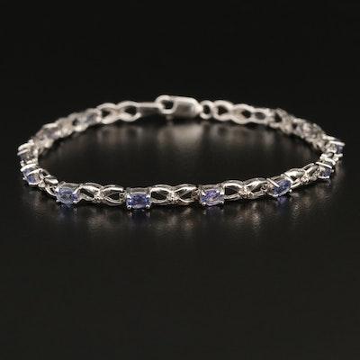 14K Tanzanite Infinity Link Bracelet