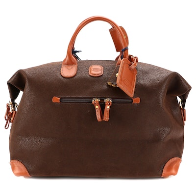 """Bric's 18"""" Life Holdall Carry-On Faux Suede With Leather Trim"""