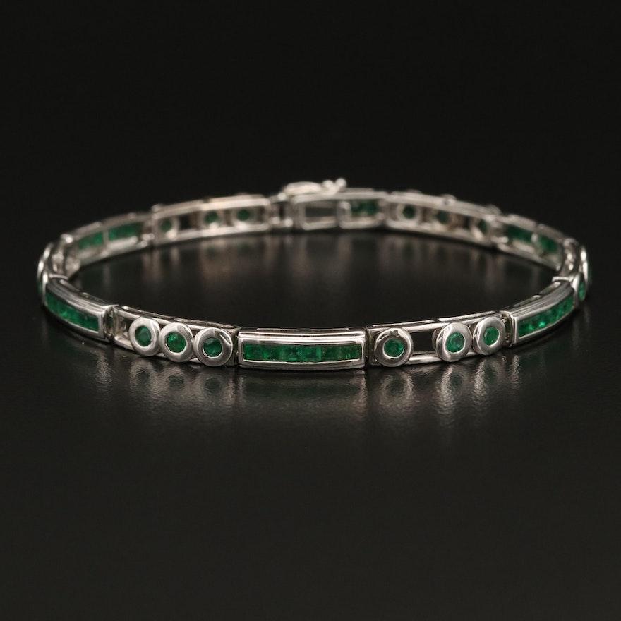 14K Emerald Bracelet