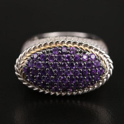 Sterling Pavé Amethyst Ring