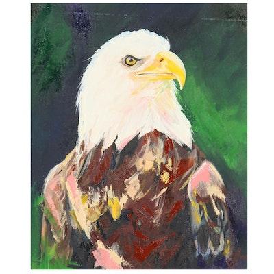 Alyona Glushchenko Oil Painting of Bald Eagle, 2021