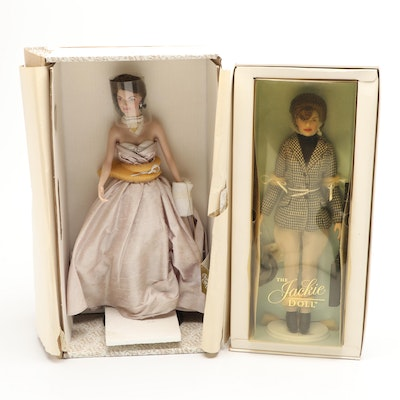 Franklin Mint Jackie Kennedy Georgetown Years and Equestrian Porcelain Dolls