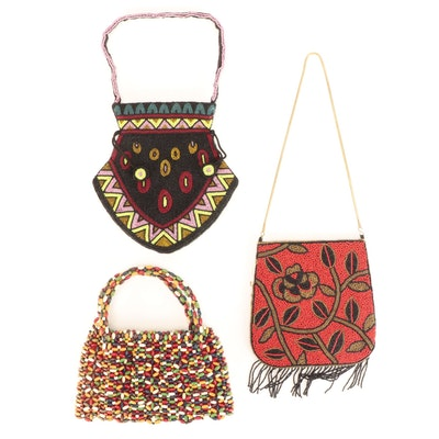 Schowanek and Other Beaded Shoulder and Top Handle Bags