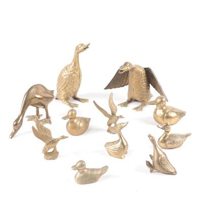Leonard Brass Ducks and Other Bird Figurines