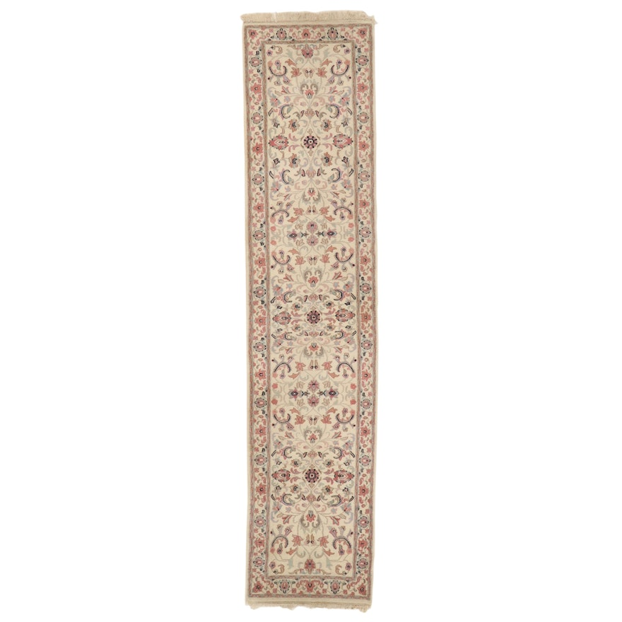 2'9 x 12'4 Hand-Knotted Floral Carpet Runner