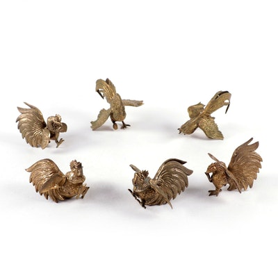 Brass Rooster Figurines