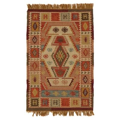 3'3 x 5'4 Handwoven Turkish Malatya Wool Kilim Area Rug