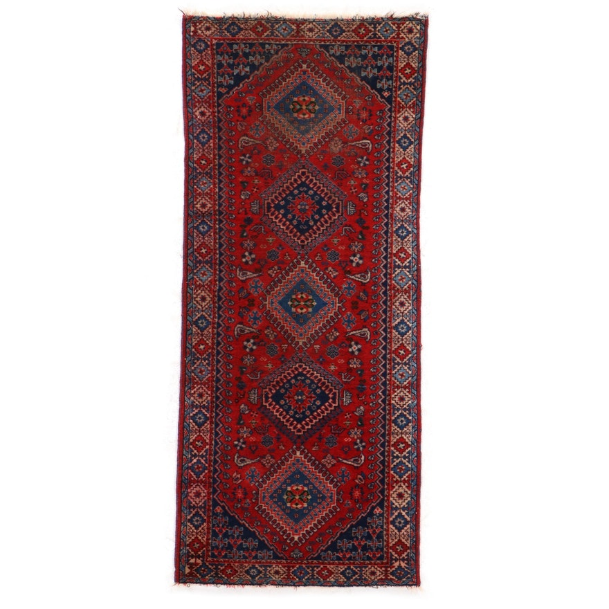 2'8 x 6'3 Hand-Knotted Caucasian Pictorial Long Rug
