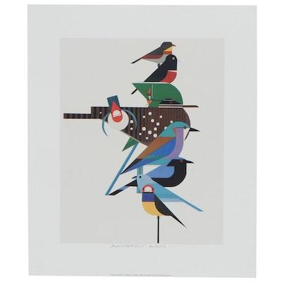 """Offset Lithograph After Charley Harper """"Rainforest Birds,"""" 2017"""