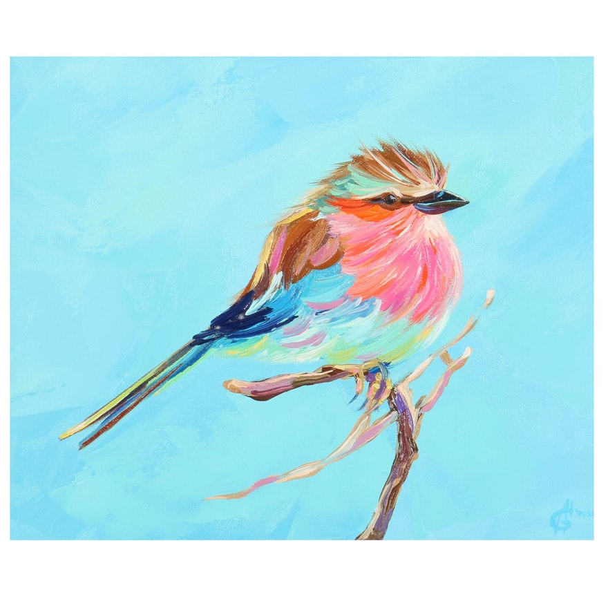 Alyona Glushchenko Oil Painting of Bird, 2021