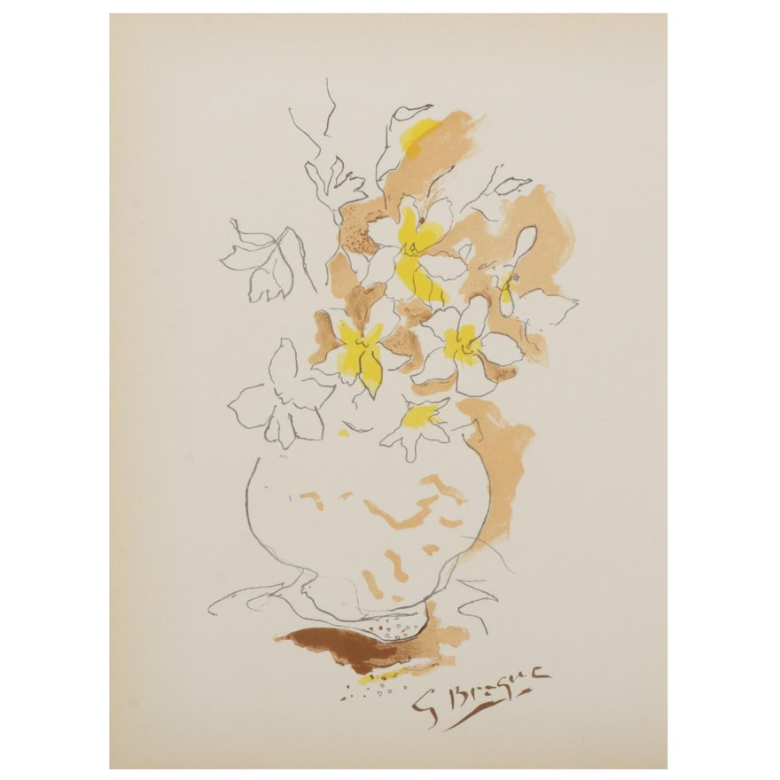 """Georges Braque Double-Sided Lithograph for """"Verve,"""" 1955"""