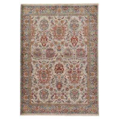 5'3 x 7'6 Machine Made Turkish Persian Mahal Art Silk Rug, 2010s