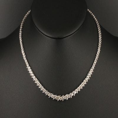 14K 4.00 CTW Diamond Rivière Necklace