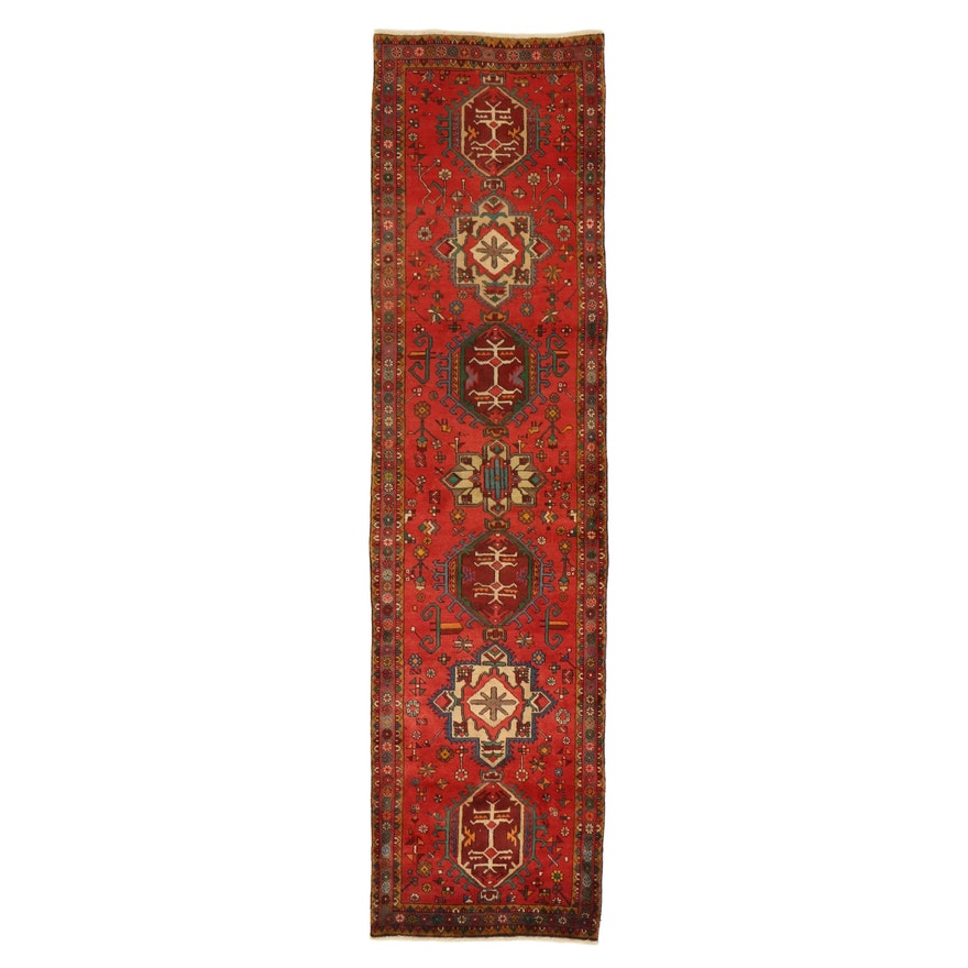 3'3 x 12'11 Hand-Knotted Northwest Persian Carpet Runner, 1950s