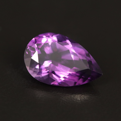 Loose 5.04 CT Pear Faceted Amethyst