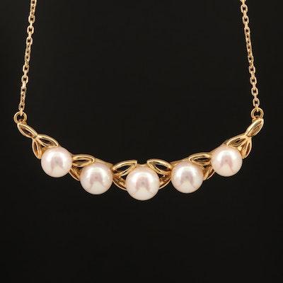 Mikimoto 18K Pearl Necklace