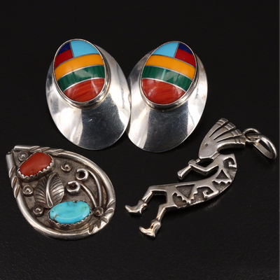 Western Style Jewelry Including Kakopelli and Chester Guerro Navajo Diné