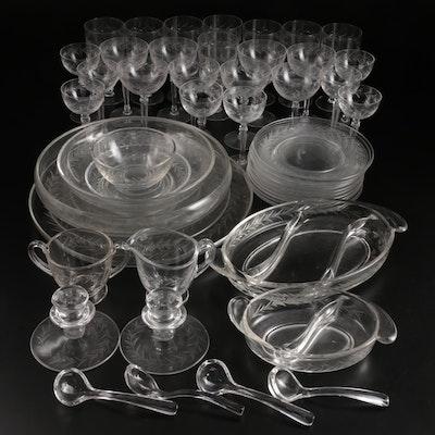 "Fostoria ""Holly Clear"" Glass Dinnerware, Stemware and Serveware, 1942–1980"
