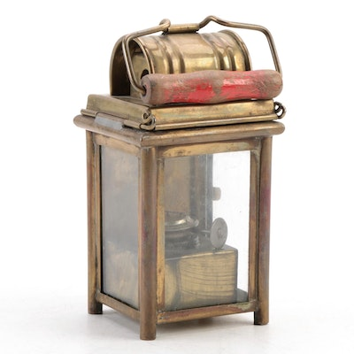 Nautical Brass Ship's Oil Lantern, Late 19th/Early 20th Century