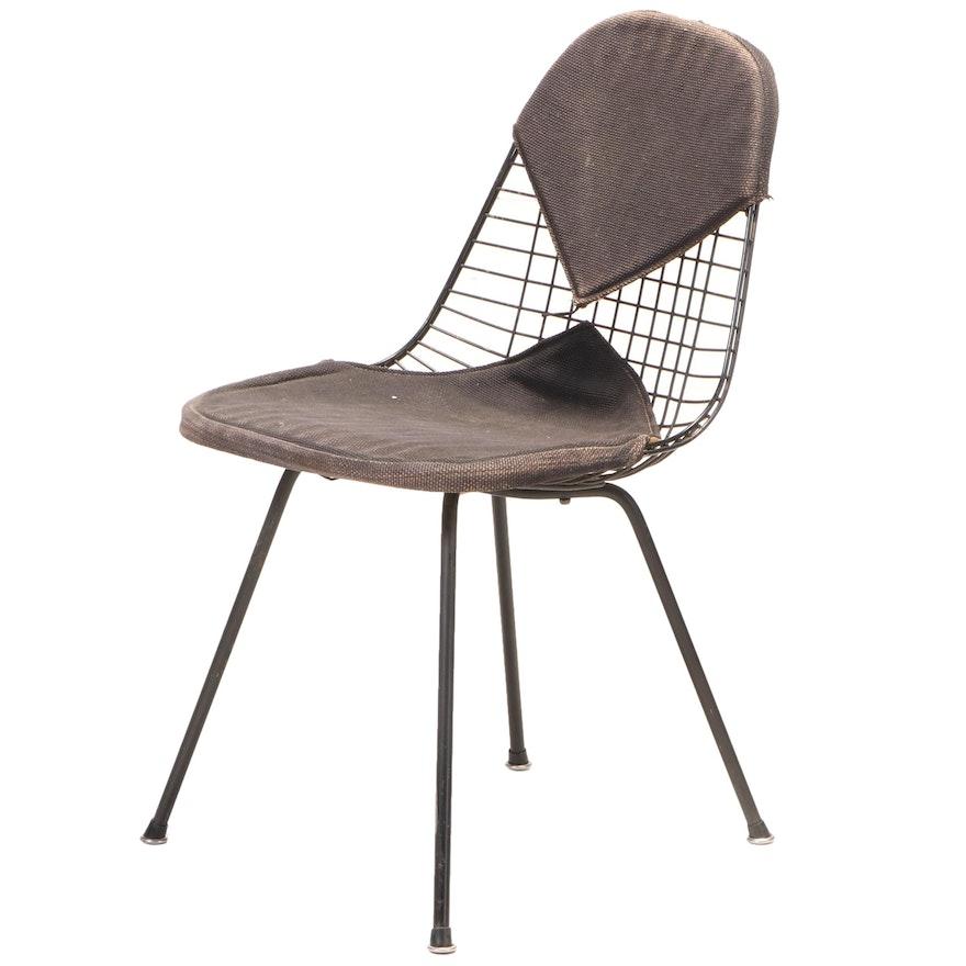 "Charles and Ray Eames for Herman Miller ""DKX"" Enameled Steel Bikini Chair"