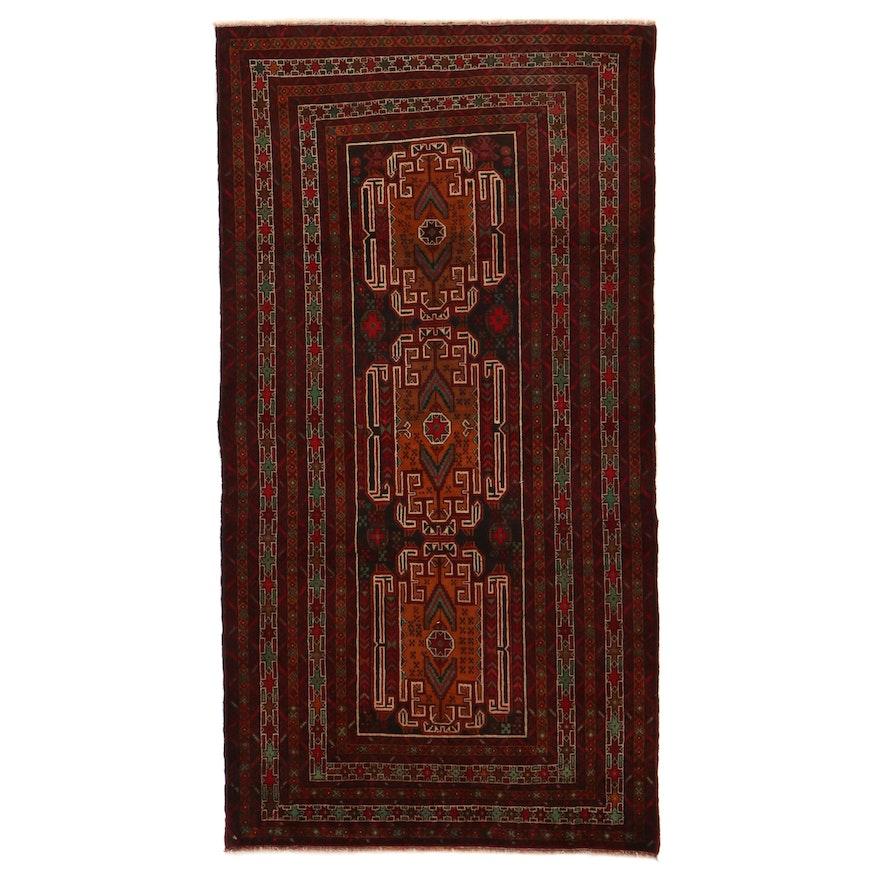 3'6 x 6'7 Hand-Knotted Persian Birjand Khorasan Rug, 2000s