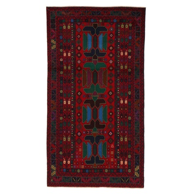 3'7 x 6'8 Hand-Knotted Persian Baluch Rug, 2000s