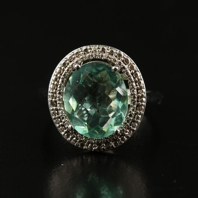Sterling Fluorite Ring