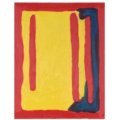 Jon Scharlock Abstract Oil Painting, 21st Century