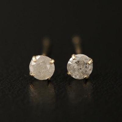 10K 0.20 CTW Diamond Stud Earrings